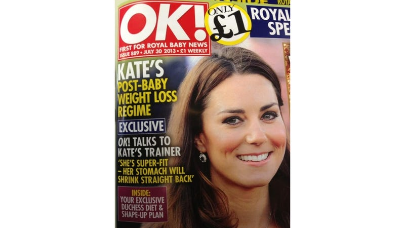 Illustration for article titled OK! Can't Even Wait 48 Hours to Start Talking About Kate's Baby Weight
