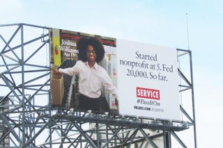 One of Joshua Williams' billboards, recently displayed in Atlantic City, N.J. ClearChannel Spectacolor