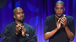 Kanye West and Jay Z at Tidal's New York City launch event March 30, 2015Jamie McCarthy/Getty Images