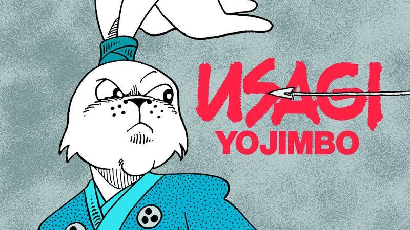 Illustration for article titled Usagi Yojimbo kick-started funny '80s cartoon animals—and it's still the best