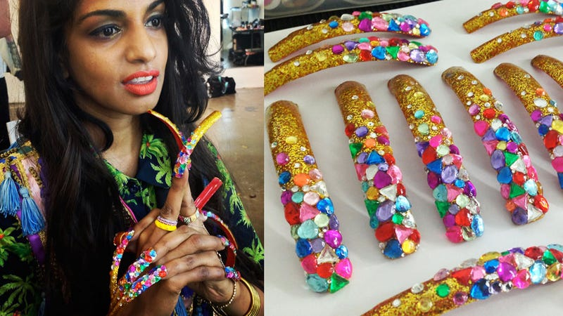 Illustration for article titled Check Out M.I.A.'s Insanely Elaborate Nail Art