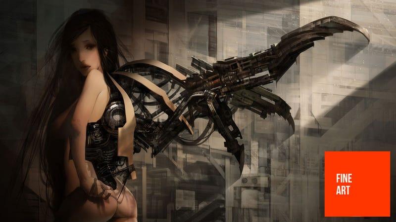 Illustration for article titled Robot Angels, Dragons, Starships & Bikes
