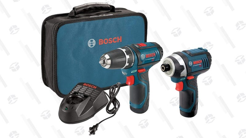 Bosch 12V Drill/Driver and Impact Driver Combo Kit | $99 | Amazon  | Add any eligible item of $1 or more for $20 off.