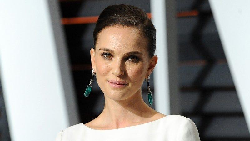Natalie Portman looking hopeful.