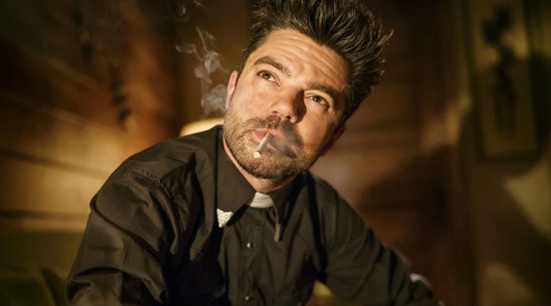 Jesse (Dominic Cooper) begins to understand on this week's Preacher. All Images: AMC