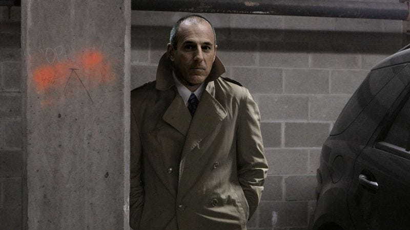 Lauer waits in the shadows to receive highly confidential information on picking the perfect summer camp.