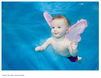 Illustration for article titled Best Images Ever: Babies Learning To Swim Underwear