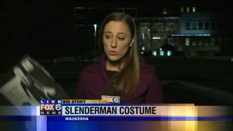 Illustration for article titled Slender Man Halloween Costumes Inspire Outrage