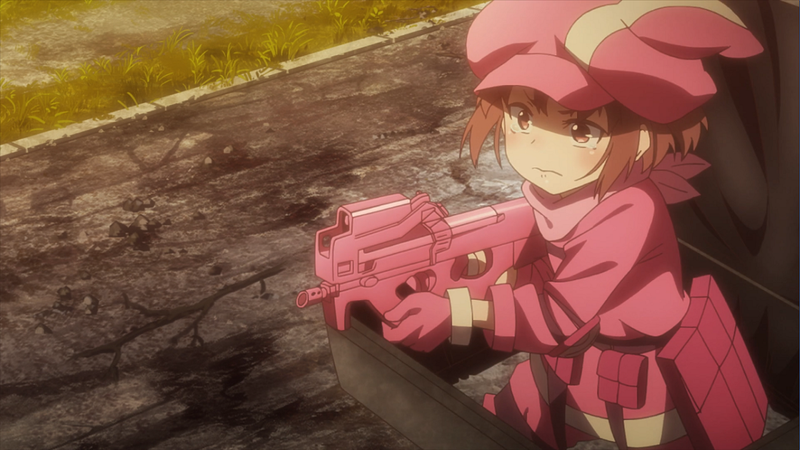 Illustration for article titled Sword Art Online Alternative Gun Gale Online Nails the Fundamental Silliness of Shooters