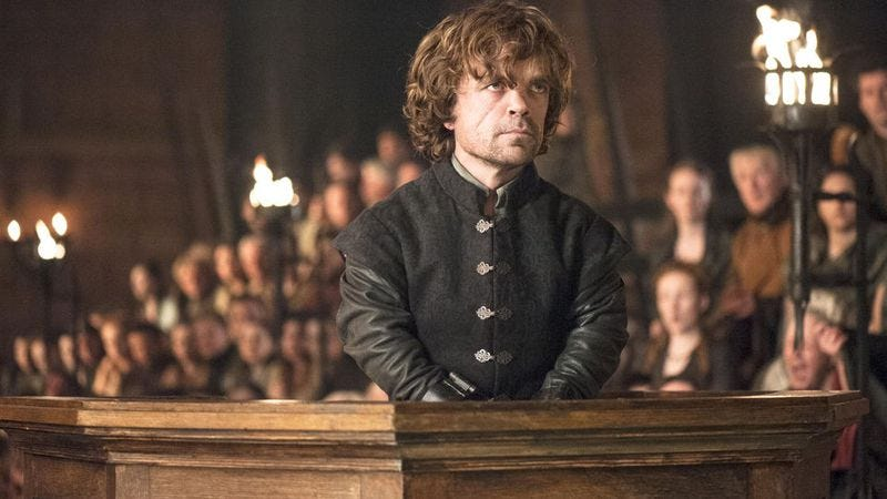 Illustration for article titled This alternate ending to Tyrion Lannister's rant is perfect