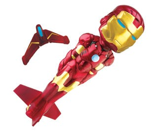 Illustration for article titled Rocket Iron Man Goes as High as a Kite