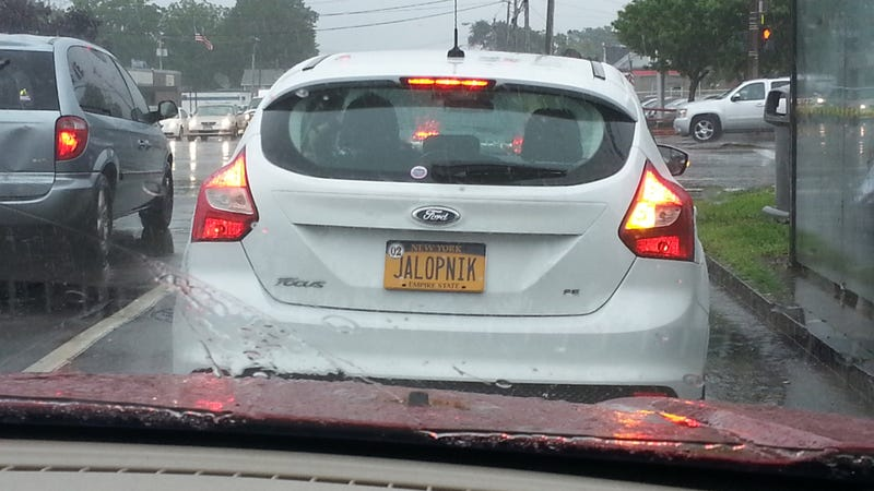 Driver Equips Car With Greatest License Plate Ever Of All ...