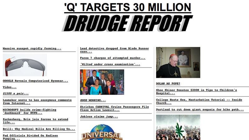 Illustration for article titled Sources: Hackers Vandalized Drudge Report For Last 15 Years