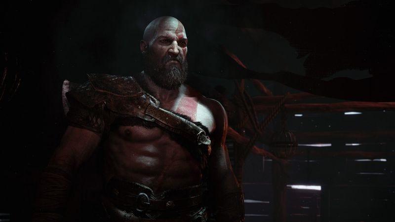 Kratos sports a beard in the new God Of War (Screenshot: Sony)