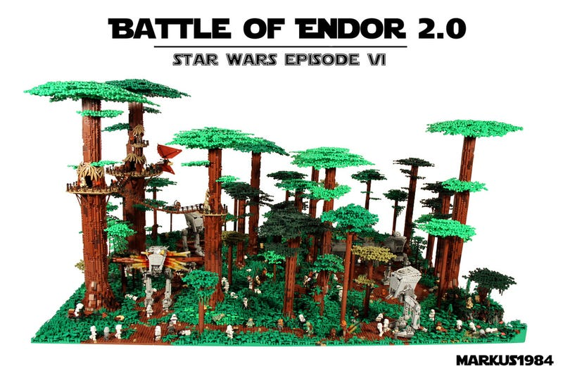 Illustration for article titled 40,000-Piece Lego Battle Of Endor