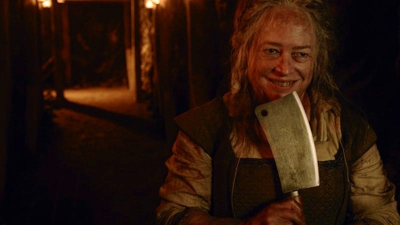 Kathy Bates as Agnes Mary Winstead as the Butcher. Image: Frank Ockenfels/FX