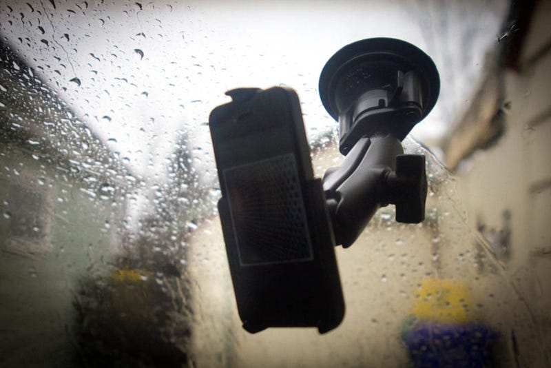 Illustration for article titled The Military-Grade iPhone Windshield Mount