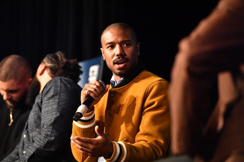 86c03b5b5cfbad Actor Michael B. Jordan speaks onstage during  Creed 2  Clark Atlanta  University Student