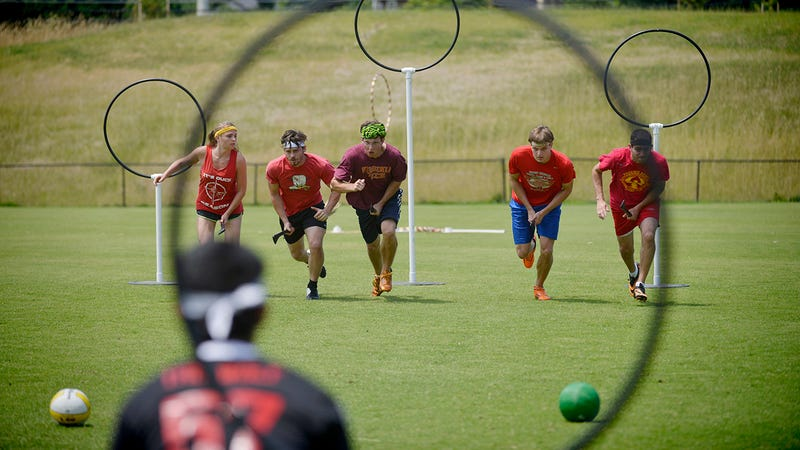 Quidditch Team Members Competing Together