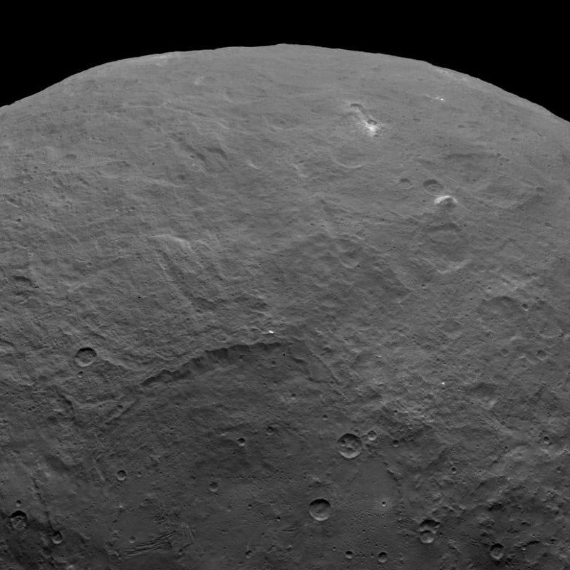 Illustration for article titled The Latest Image Of Ceres Reveals A Towering Mountain