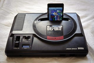 Illustration for article titled Opening Up a Sega Genesis Leads to a Genesis iPhone Dock, Naturally