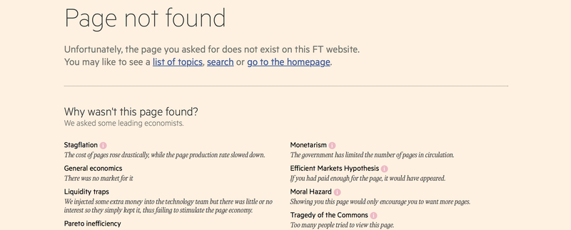 Illustration for article titled Only Smart People Will Understand the FT's Amazing New 404 Page