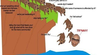 Illustration for article titled Carmen Carrera Compares RuPaul and Trans Slur Users to Lemmings