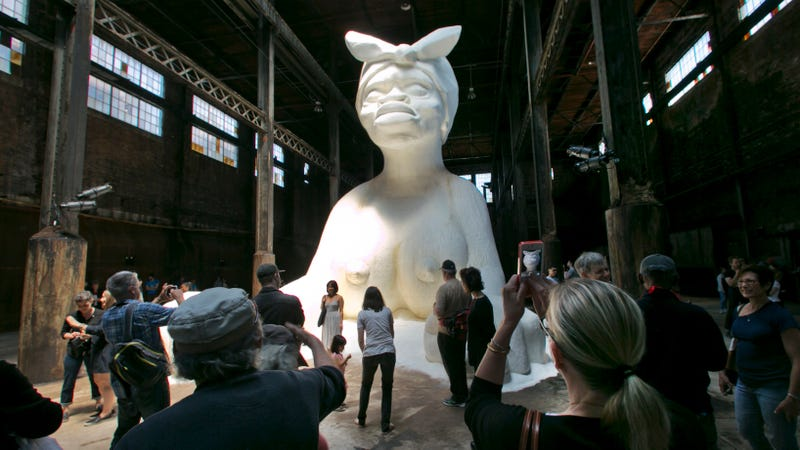 "Kara Walker's ""A Subtlety or the Marvelous Sugar Baby,"" 2014. Image via the AP."