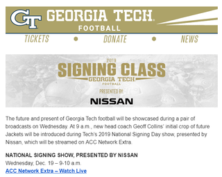 Illustration for article titled It appears Georgia Tech Athletics is sponsored by Nissan