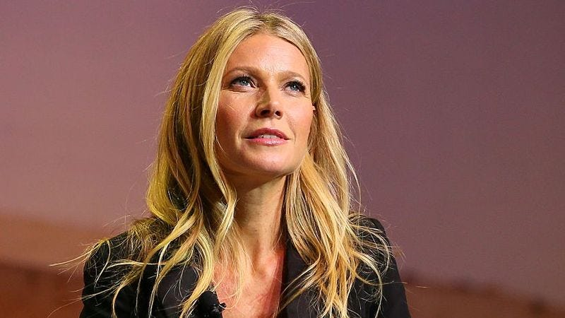 Gwyneth, cleaning out her mental closet on November 19. (Photo: JB LaCroix / Getty Images)