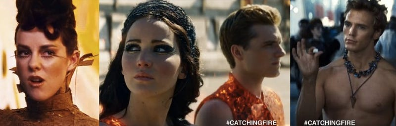 Illustration for article titled Catching Fire trailer introduces the new cast of Hunger Games Victors