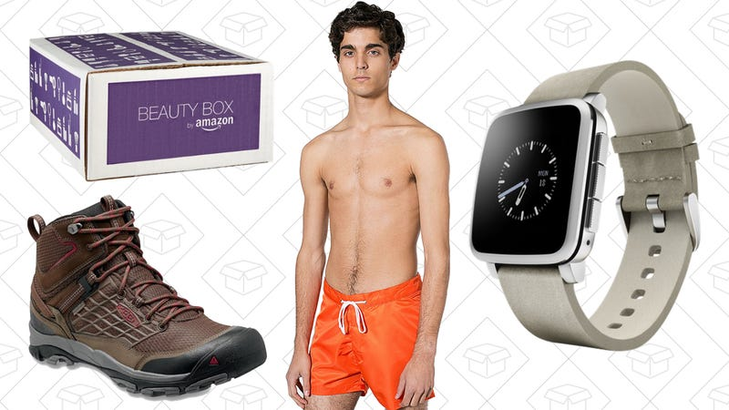 Illustration for article titled Today's Best Lifestyle Deals: $10 Amazon Beauty Box, Hiking Boots, Swimsuits, and More