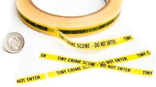 Illustration for article titled Tiny Crime Scene Tape Marks Minuscule Misdemeanors