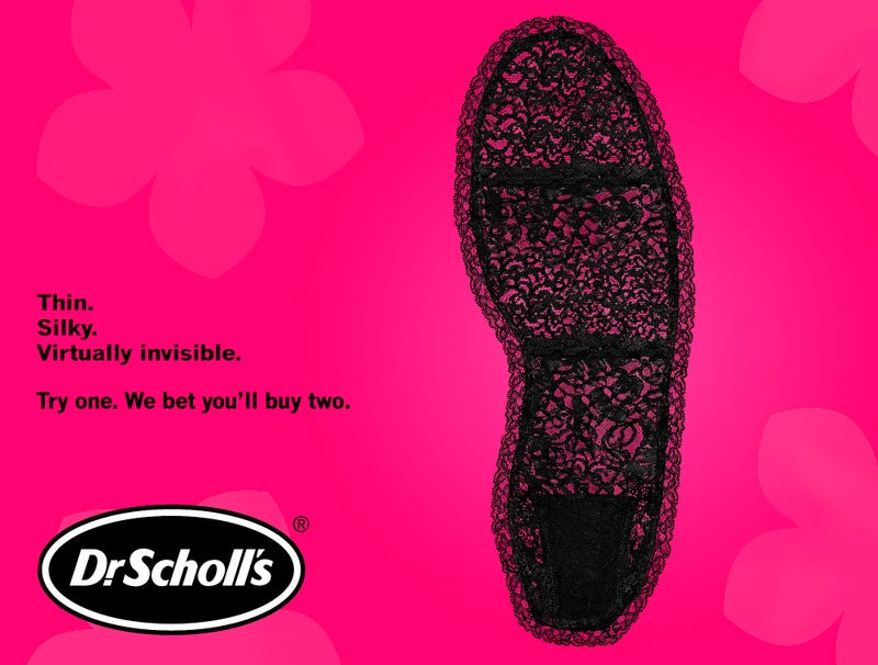 Illustration for article titled Dr. Scholl's Introduces Line Of Sexy Lace Insoles