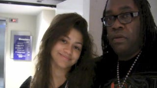 Zendaya Coleman and her father, Kazembe AjamuScreenshot/TMZ