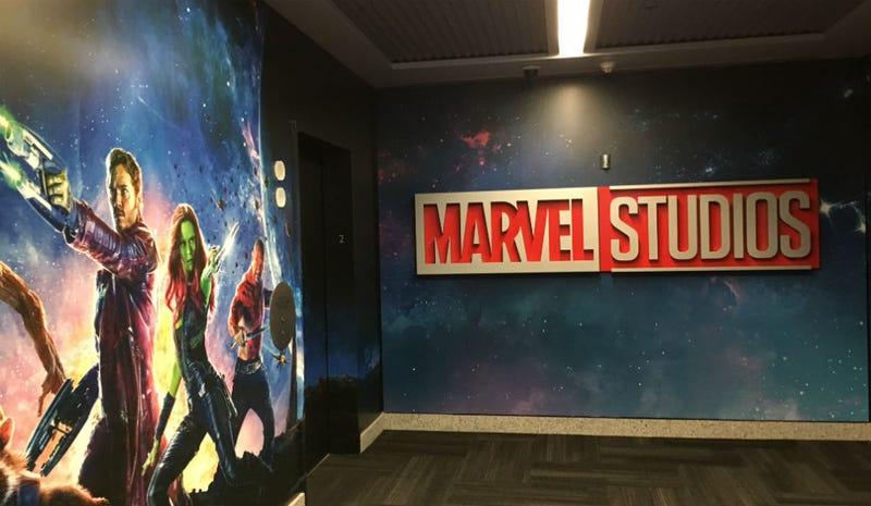 One elevator bank of Marvel Studios. Image: Germain Lussier