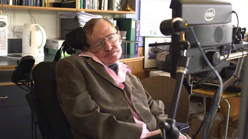 Stephen Hawking records the Monty Python song