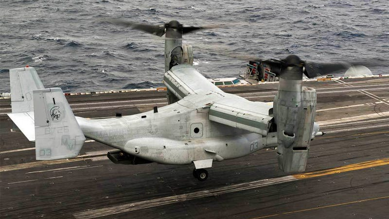 Illustration for article titled Stupid Move: Navy Will Buy V-22 Ospreys To Replace Its C-2 Greyhounds