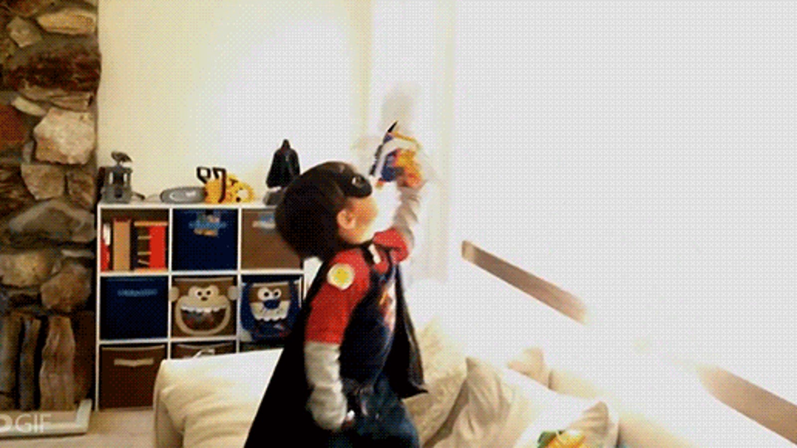 Awesome dad turns son into superhero using amazing special effects