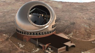 Artist's rendering of the Thirty Meter Telescope. Image: TMT.org