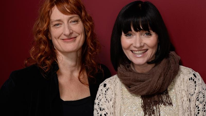 Jennifer Kent (L) with The Babadook star Essie Davis (Image by: Getty Images)