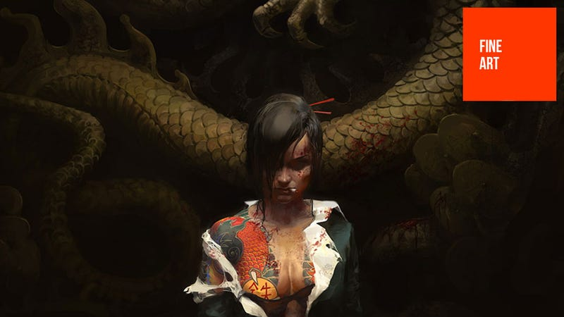 Illustration for article titled The Girl With The Dragon...Well, Dragon