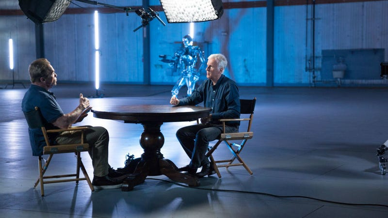 James Cameron interviewing Arnold Schwarzenegger on his new AMC show.