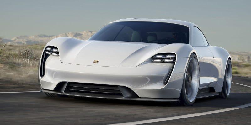 Illustration for article titled El Porsche Mission E recarga su batería más rápido que un Tesla, y es una preciosidad