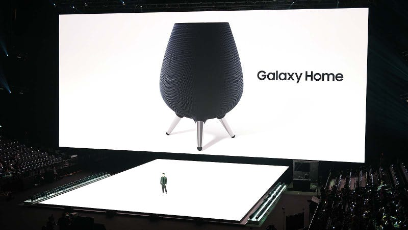 Illustration for article titled Samsung Really Went and Made a Bixby Speaker