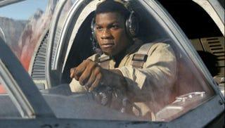 John Boyega as Finn in Stars War: The Last Jedi (Lucasfilms)