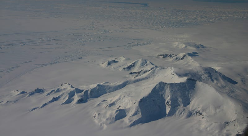 Aerial view of Mount Murphy captured during a NASA Operation Ice Bridge flyover in 2012. Image: John Sonntag