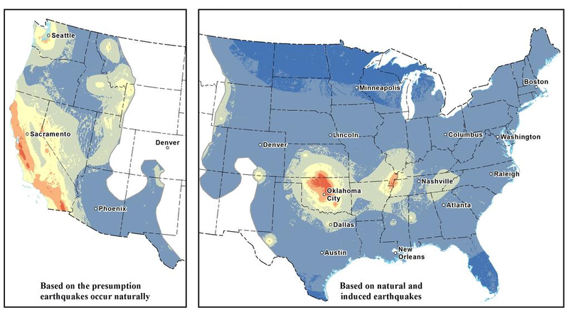 This Map Shows The Most Likely Areas To Be Affected By Earthquakes - Earthquake area us map