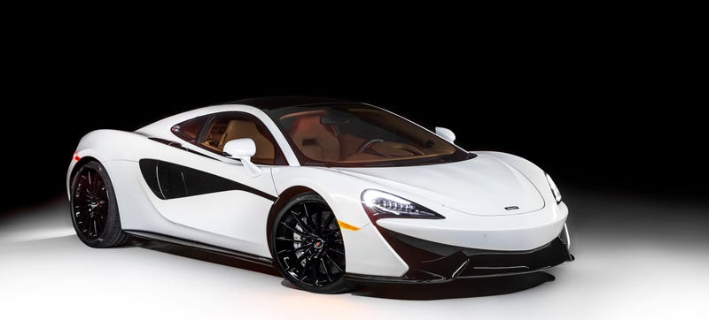 Illustration for article titled The McLaren 570GT MSO Concept Is Blazing In White And Gets Electronic Window Tint
