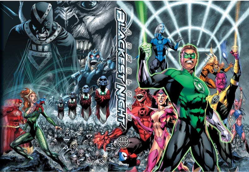 Illustration for article titled Green Lantern stands tall in the cover to DC's Absolute Blackest Night